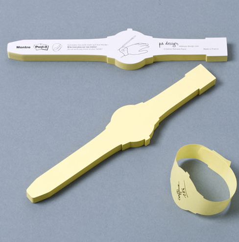 http://design-milk.com/post-it-note-watch/